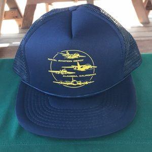 Vintage Naval Aviation Depot trucker hat mesh